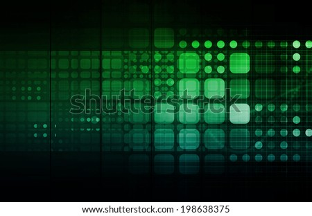 Big Data on a System Network Technology Concept - stock photo