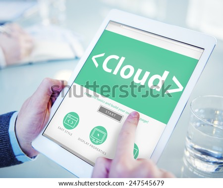 Big Data Online Network Office Sharing Concept - stock photo
