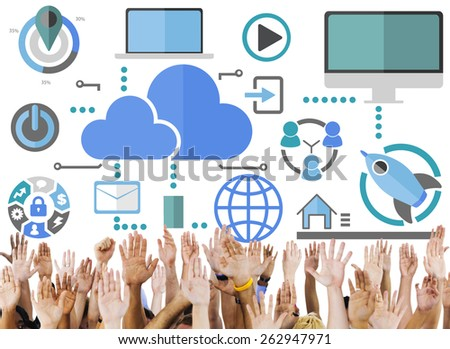 Big Data Sharing Online Global Communication Volunteer Support Concept - stock photo