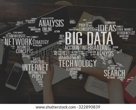 Big Data Storage Online Cloud Data Center Web Concept - stock photo