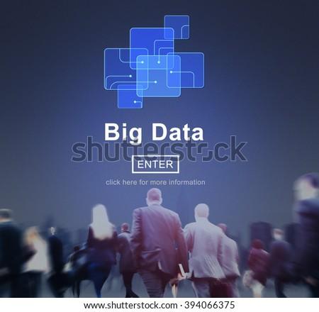 Big Data Storage Online Internet Memory Data Concept - stock photo