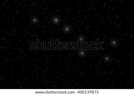 Big Dipper Constellation, Ursa Major, The Great Bear - stock photo