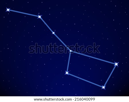 Big Dipper on the starry sky  - stock photo