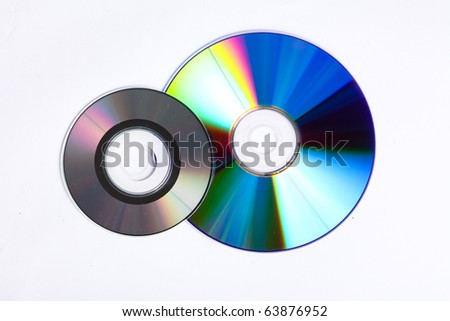 Big DVD and small cd stacked