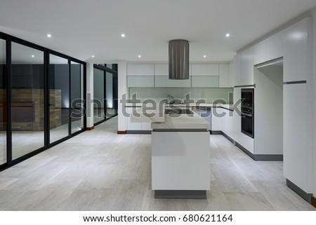 Big Empty Modern Kitchen