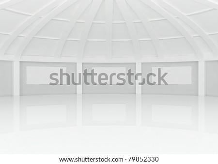 Big Empty Round Hall Columns Frames Stock Illustration 79852330 ...