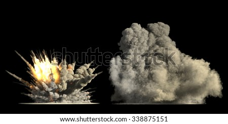 Big explosion  - stock photo