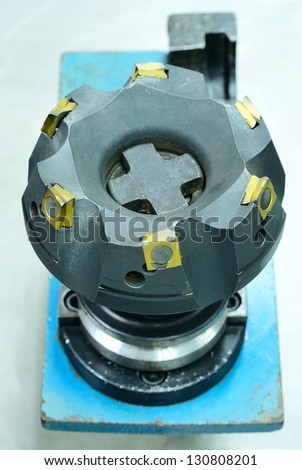 Big face milling tool of computer NC machine - stock photo