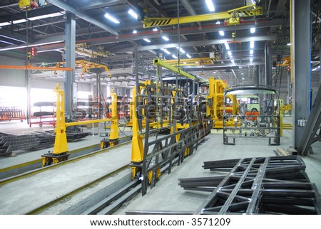 Big factory with a lot of machine tools. 9 - stock photo