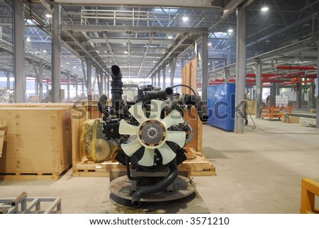 Big factory with a lot of machine tools. 19 - stock photo