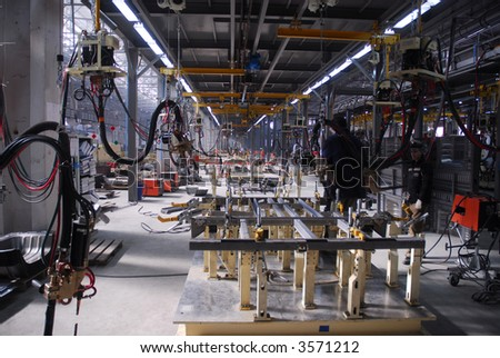 Big factory with a lot of machine tools. 18 - stock photo