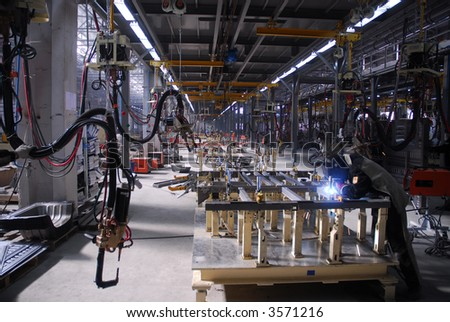 Big factory with a lot of machine tools. 17 - stock photo