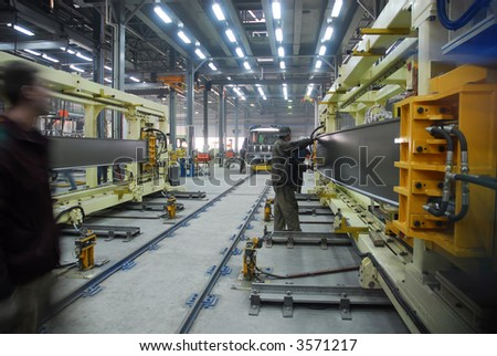 Big factory with a lot of machine tools. 12 - stock photo