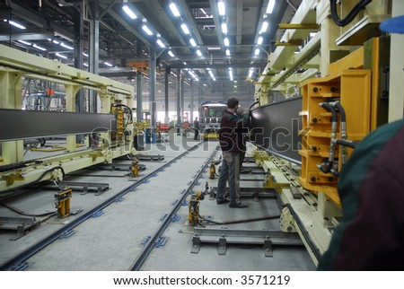 Big factory with a lot of machine tools. 13 - stock photo