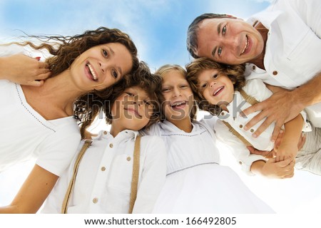 Big family is holding together and smiling
