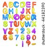Big Fat Color Alphabet - stock photo