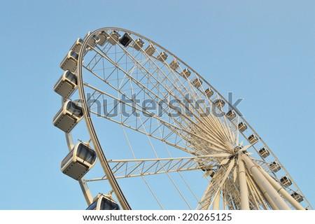 Big Ferris wheel at Asiatique, Bangkok, Thailand - stock photo
