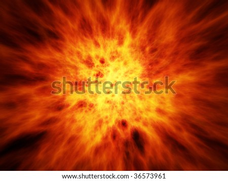 Big Fire - stock photo