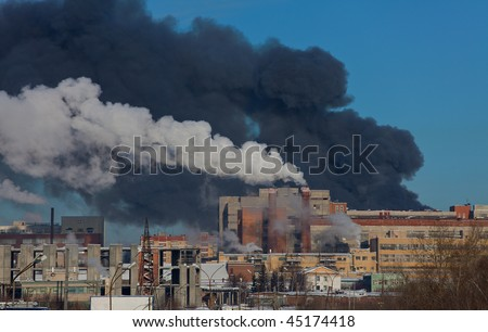Big fire on the powerplant