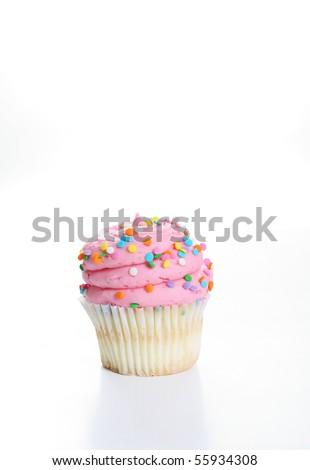big frosting cupcake vertical - stock photo