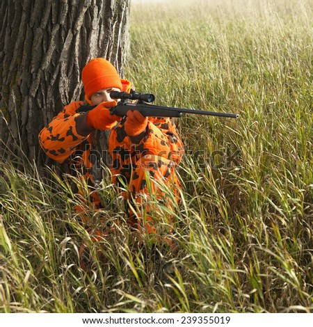 Big Game Rifle Hunting - stock photo