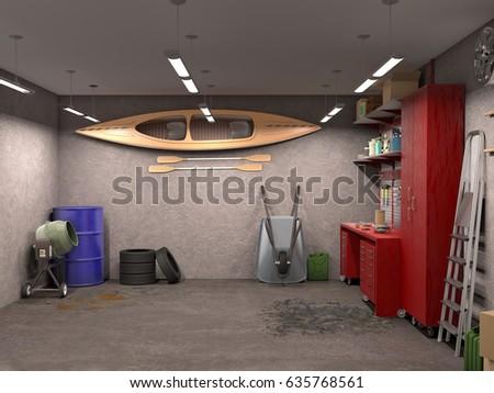 Garage Interior Stock Images RoyaltyFree Images Vectors