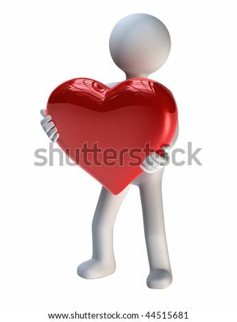 Big Gift of Love - stock photo