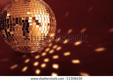 big gold disco ball - stock photo
