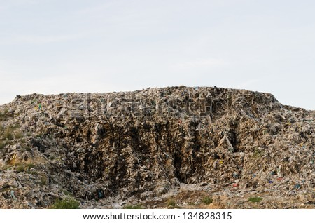 big grabage heap problem of pollution - stock photo