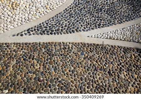 big gravel stone pathway walk way walkway texture - stock photo