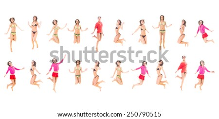 Big Group Athletic Concept  - stock photo