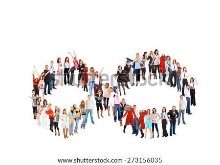 Big Group Corporate Culture  - stock photo