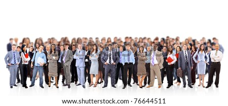 big group of business people. Isolated over white background