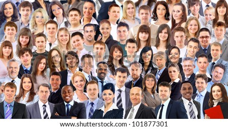 big group people - stock photo