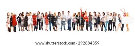 Big Group People Diversity  - stock photo