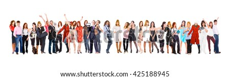 Big Group People Diversity  - stock photo
