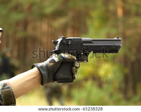 Big gun - stock photo
