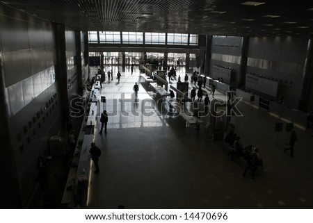 big hall - stock photo