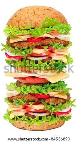 Big hamburger - stock photo