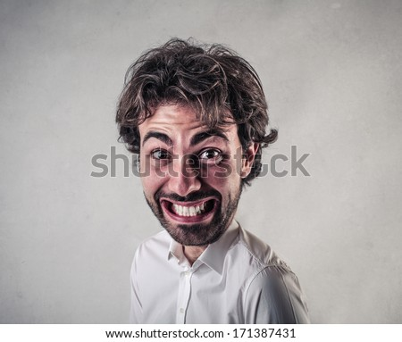 Big happy face  - stock photo