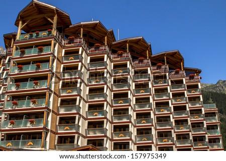 Big Hotel in Chamonix - stock photo