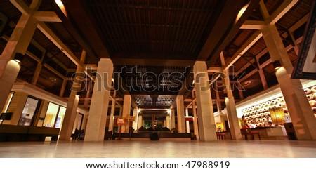 big hotel reception - stock photo