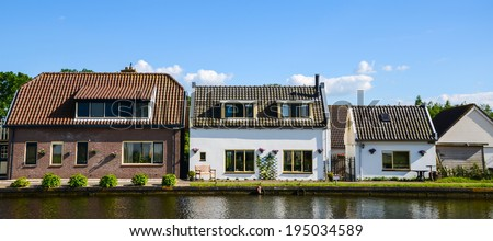 Big house to small house - stock photo