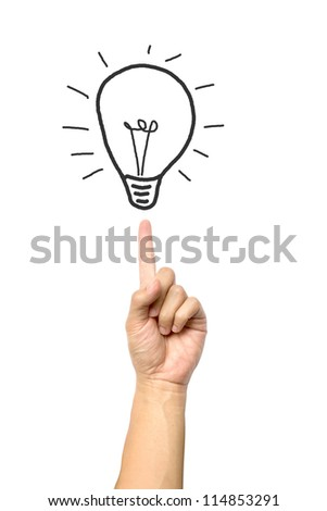 big-idea-isolated-on-white-background - stock photo