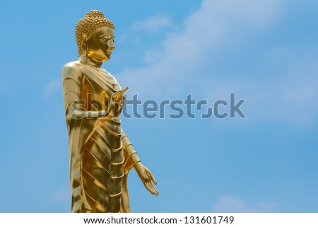 big image of buddha in thailand - stock photo