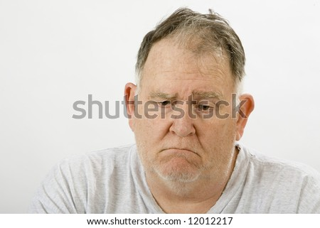 big in a depressed state of mind - stock photo
