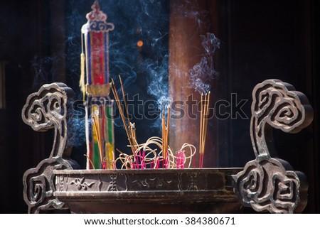 Big incense burner - stock photo