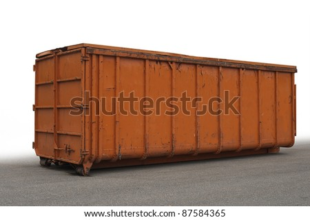 big industrial container partly isolated in white back