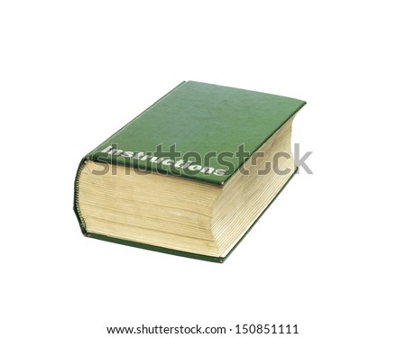 big instruction manual thick book instructions stock photo edit now