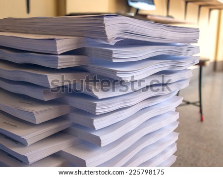 Big job a lot of stack document hard work. - stock photo